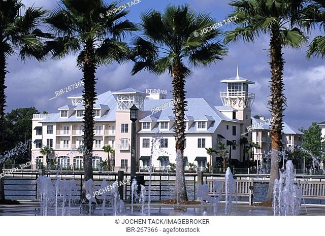 Celebration Hotel, built by the Disney group, only hotel in town, Celebration, Florida, USA