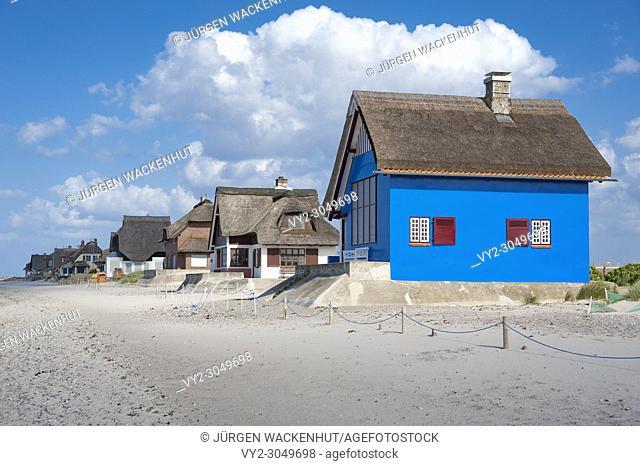 Historic building on the peninsula Graswarder, Heiligenhafen, Baltic Sea, Schleswig-Holstein, Germany, Europe