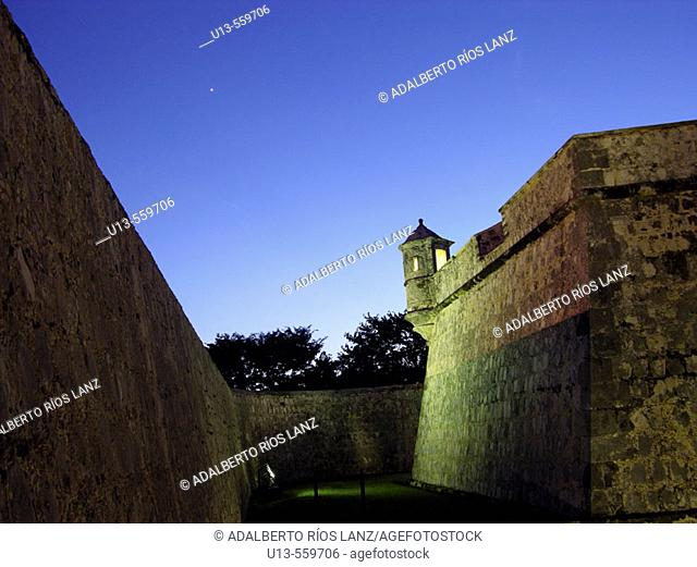 Historic fort in Campeche. Mexico