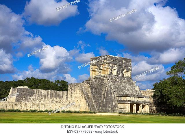 Jaguars temple Balam in Chichen Itza at Yucatan Mexico