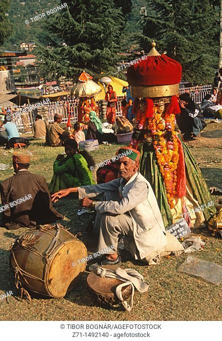 India, Himachal Pradesh, Kullu, Dussehra hindu festival, people