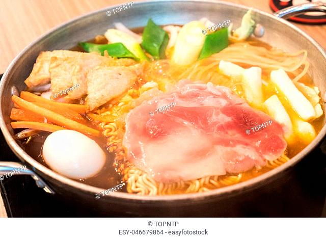Tokpokki is a traditional Korean food, hot pot style