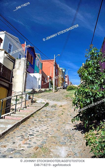 Calle templeton Cerro alegre. Valparaiso. Chile