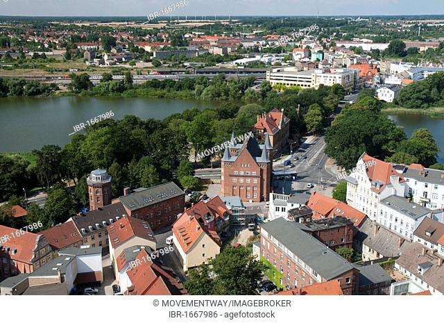 View from Marienkirche church, Unesco World Heritage Site, Stralsund, Mecklenburg-Western Pomerania, Germany, Europe