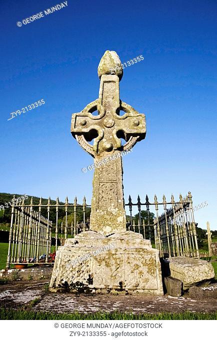 8th Century High Cross in Kilkeiran Graveyard, County Kilkenny, Ireland