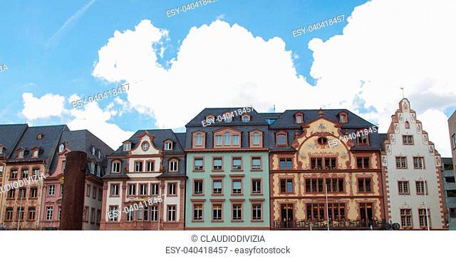 Mainzer Altstadt old town in Mainz Germany