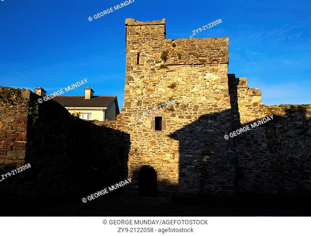 The The Double Tower in the 13th Century Rown Walls, Waterford City, Ireland