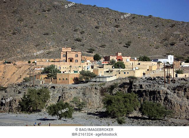 Town of Ghul on Jebel Shams Mountain, Oman, Arabian Peninsula, Middle East, Asia