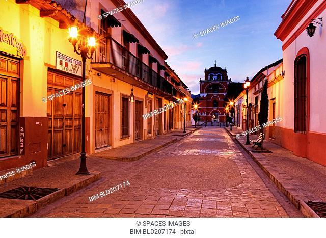 Empty Town Street at Dawn