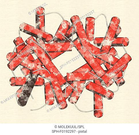 Haemoglobin molecule, illustration