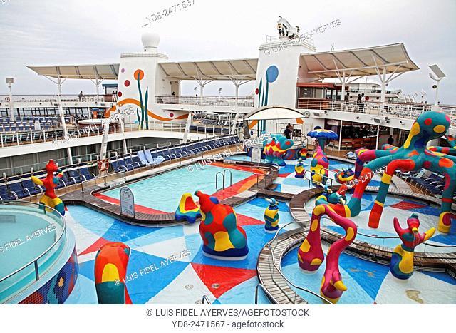 Deck of a Royal Caribbean Cruise