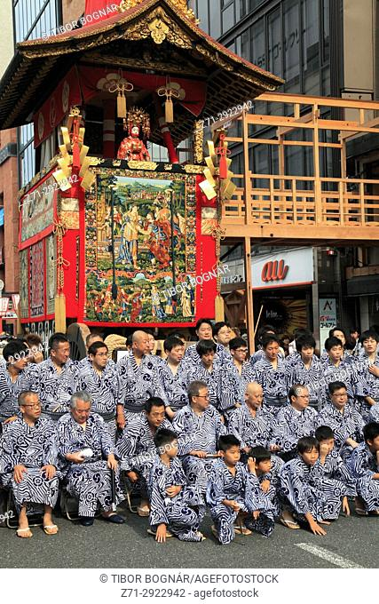 Japan, Kyoto, Gion Matsuri, festival, float, people,