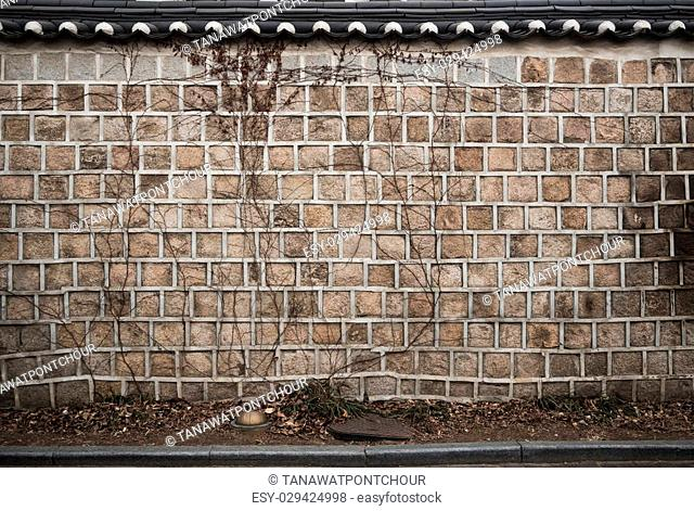Old rustic grunge stone wall