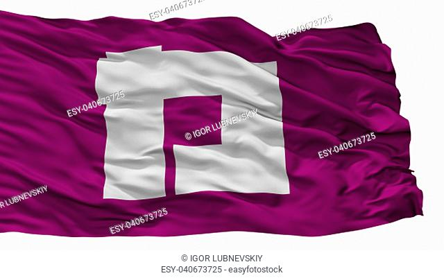 Katsushika City Flag, Country Japan, Tokyo Prefecture, Isolated On White Background, 3D Rendering