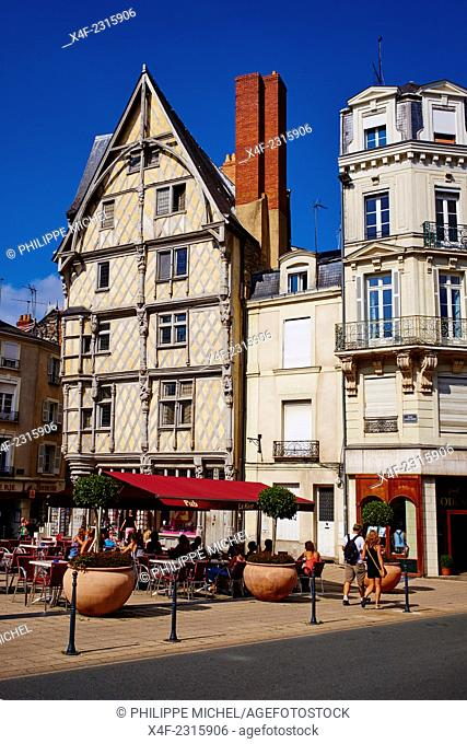 France, Maine-et-Loire, Angers, Adam house from 16 century