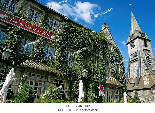 France, Normandy, Honfleur, hotel