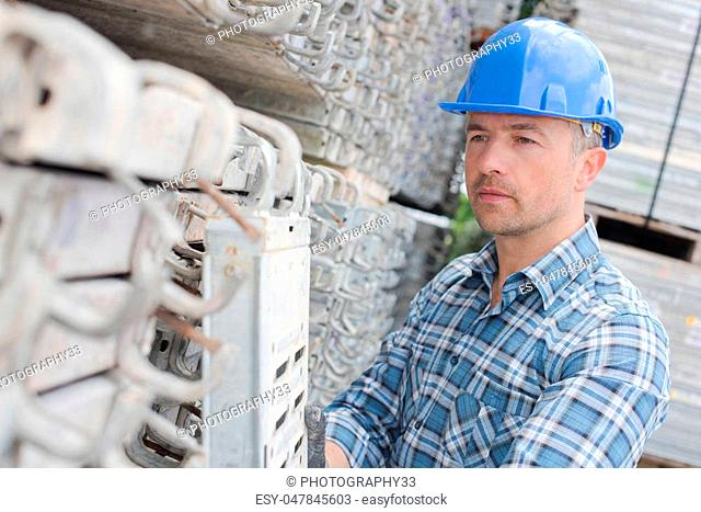 young worker outdoors