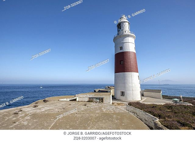 Trinity House Lighthouse. Europa Point. Gibraltar