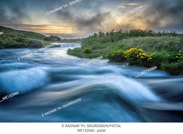 Laxa river in Thingeyjarsysla, Lake Myvatn, Iceland