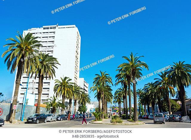 Boulevard Felix Houphouet-Boigny, Casablanca, Morocco, Africa
