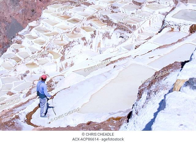 Salt pond mines of Maras, 40?kilometers north of Cuzco, in the Cuzco Region of Peru