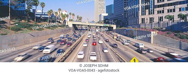 Harbor Freeway at Rush Hour, Los Angeles, California