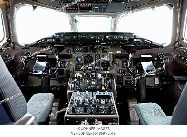 Interior an aeroplane MD-83, Sweden