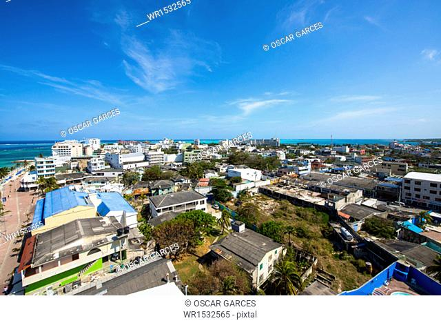 Panoramic of San Andres Island, Archipelago of San Andres, Providencia and Santa Catalina, Colombia