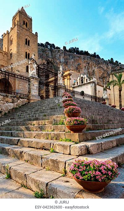 Cefalu old town view, Palermo region, Sicily, Italy