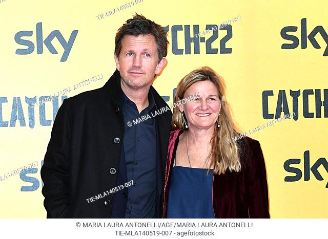 Richard Brown, Ellen Kuras during the Red carpet for the Premiere of film tv Catch-22, Rome, ITALY-13-05-2019