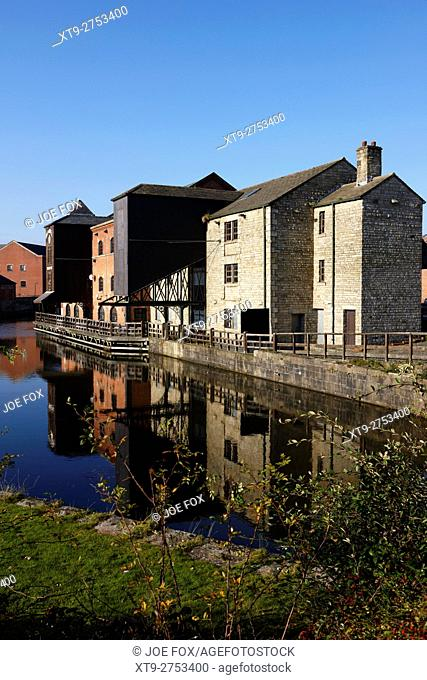 Wigan Pier on the Liverpool Leeds Canal England United Kingdom