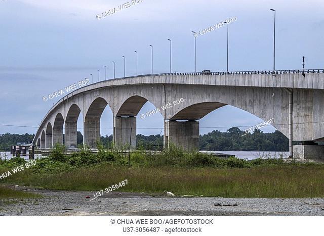 Sadong bridge linking between Sadong Jaya and Sebuyau, Sarawak, Malaysia