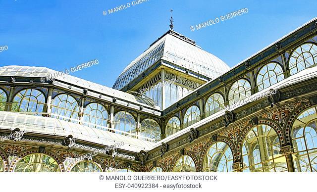 Crystal Palace in El Retiro of Madrid, Spain