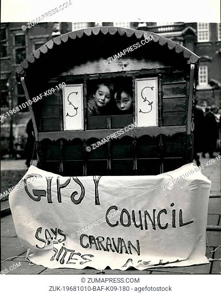 Oct. 10, 1968 - Gipsies at the the House of Commons.: A group of gipsies from all over the British Isles today went to the House of Commons today