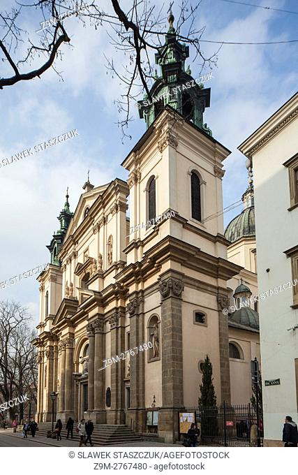 Baroque church of St Anna in Krakow old town, Poland