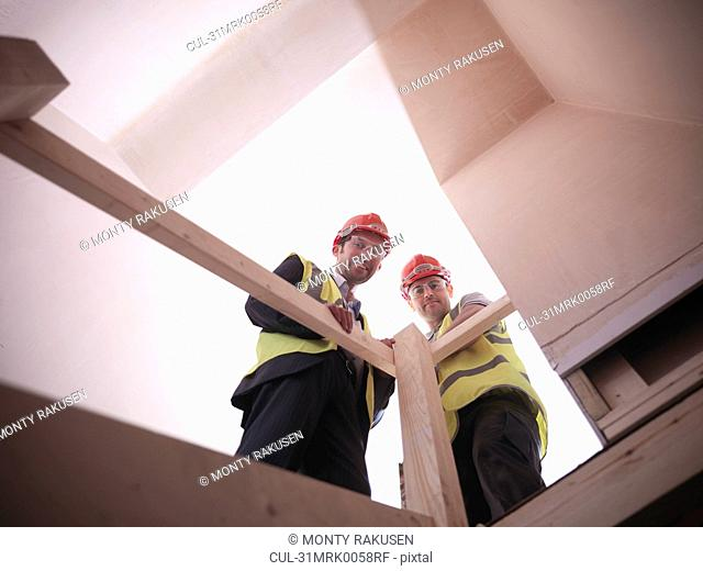 Builder and site manager in house