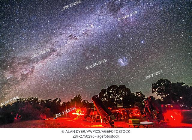 The southern sky splendours over the OzSky Star Party, with the Milky Way from Vela to Centaurus, including Crux and Carina left of upper centre