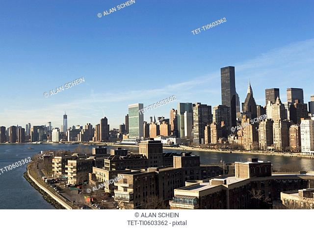 Elevated view of Manhattan's East Side