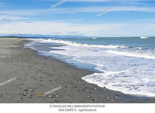 Beach at Greymouth, West Coast, South Island, New Zealand