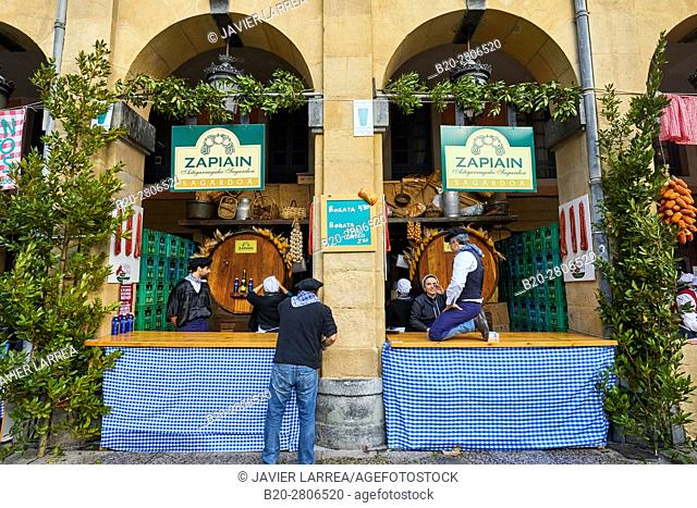 Cider, Feria de Santo Tomás, The feast of St. Thomas takes place on December 21. During this day San Sebastián is transformed into a rural market