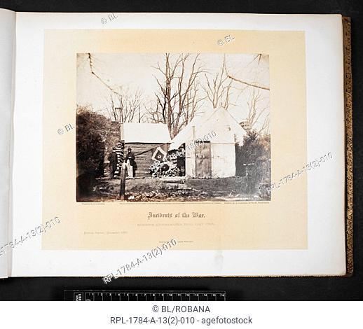 American Civil War Residence Quartermaster Third Army Corps Brandy Station, December 1863. Author Alexander Gardner, Illustrated by James Gardner