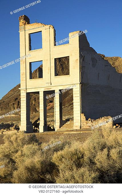 John S Cook and Co Bank, Rhyolite Historic Site, Tonopah District Bureau of Land Management, Nevada