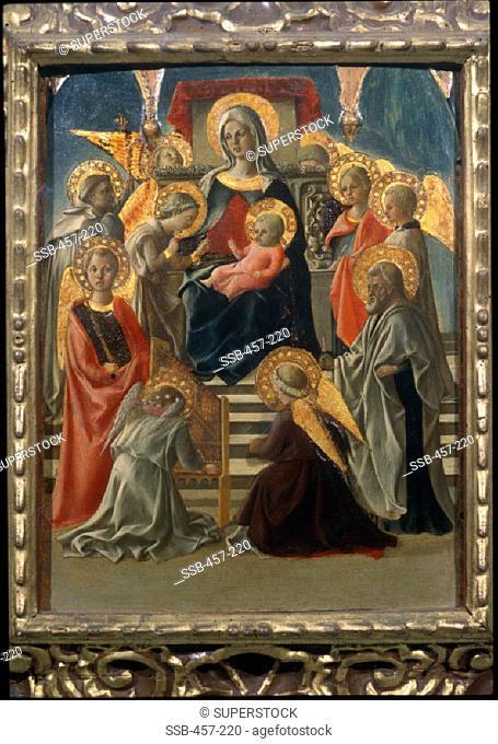 Madonna and Child with Saints and Angels Fra Filippo Lippi (c. 1406-1469/ Italian) Museo della Collegiata, Empoli, Italy