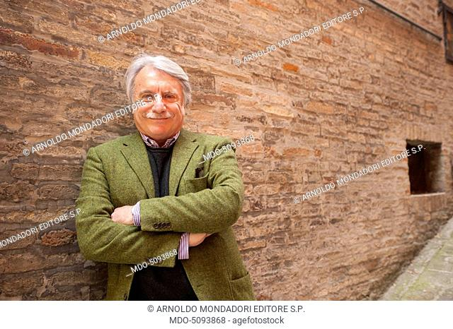 Psychiatrist and sociologist Paolo Crepet during the event Panorama d'Italia. Pisa, Italy. 7th May 2015