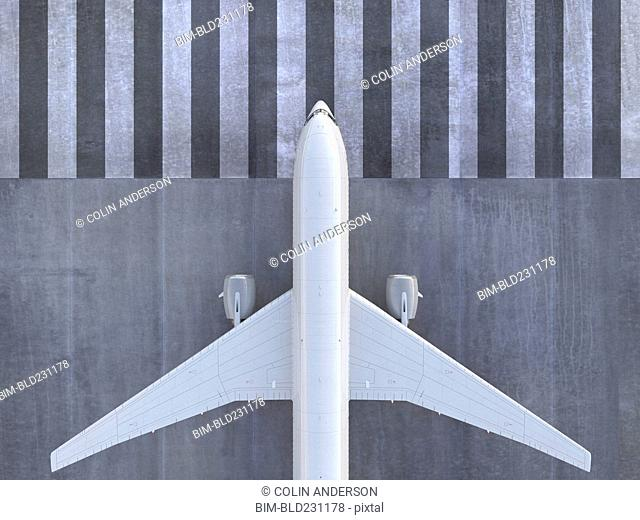 Airplane viewed from directly above