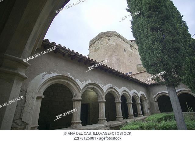 MORA DE RUBIELOS SPAIN-AUGUST 15, 2018:Extraordinary visit to the cloister of the church of Santa María
