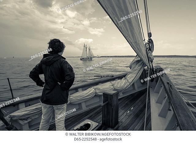 USA, Massachusetts, Gloucester, Schooner Festival, aboard the Schooner Virginia