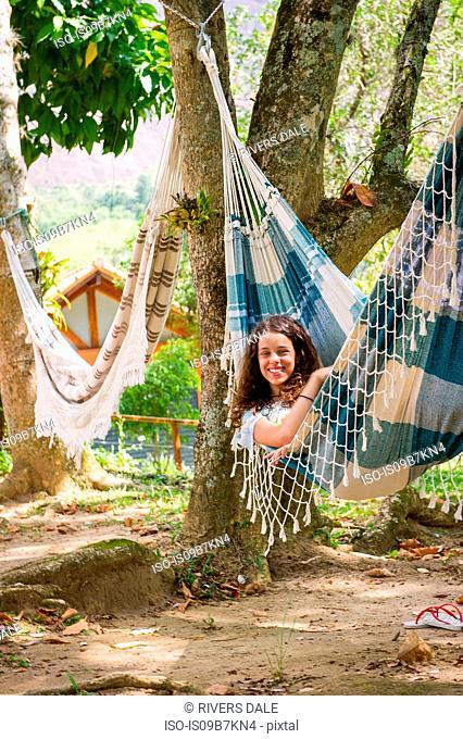 Girl in hammock, Rio de Janeiro, Brazil