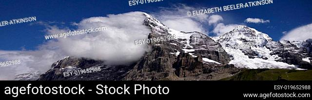 Clouds on the Eiger North Face