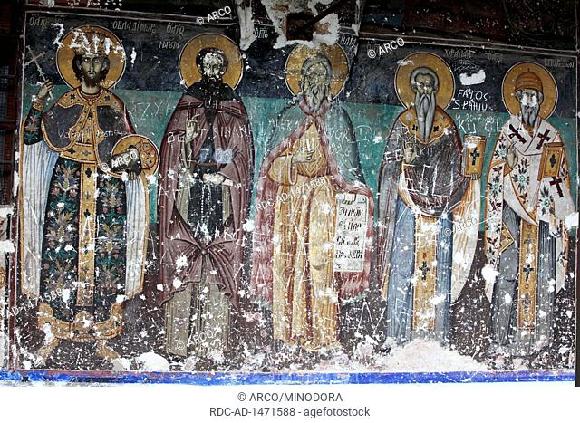 Orthodox church, cultural monument, Voskopoja, Albania, Europe